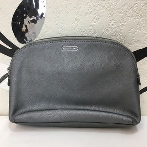 Coach gray Darcy leather bag